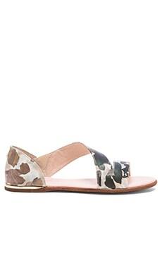Yosi Samra Casey Crossover Sandal in Biscotti