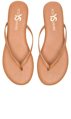 Yosi Samra Roee Leather Flip Flop in Sienna
