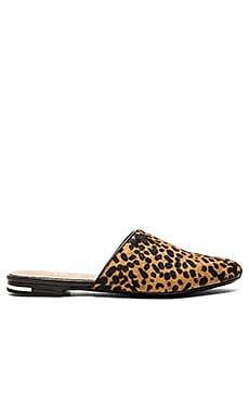 Yosi Samra Parker Mule Slide in Spotted Leopard