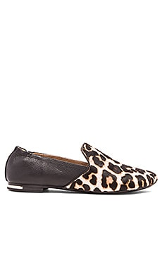Yosi Samra Preslie Cow Hair Loafer in White Jaguar