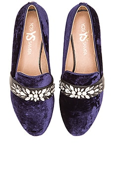 Yosi Samra Pippa Loafer in Indigo & Black