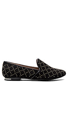 Yosi Samra Preslie Loafer in Black & Gold