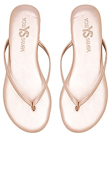 Yosi Samra Roee Sandal in Rose Gold