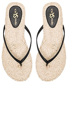 Roee Rope Sandal in Black