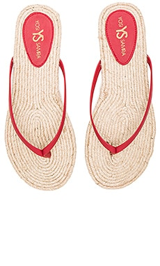 Yosi Samra Roee Rope Flip Flop in Brick Red