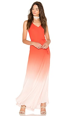 Carla Maxi in Hot Orange & Nude Ombre Wash