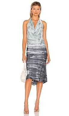 Rebel Satin Halter Dress Young, Fabulous & Broke $150