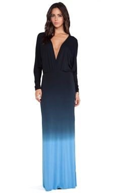 Young, Fabulous & Broke Eaton Maxi in Black & Blue Ombre