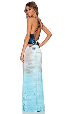 Young, Fabulous & Broke Pauli Maxi Dress in Navy Sumatra Wash