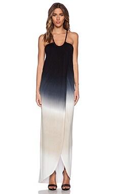 Young, Fabulous & Broke Lexie Dress in Black & Tan Ombre