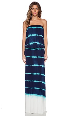 Young, Fabulous & Broke Sydney Maxi Dress in Green Sailor Stripe