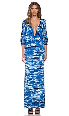 Young, Fabulous & Broke Eaton Maxi Dress in Navy & Blue Shorebreak