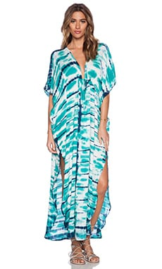 Young, Fabulous & Broke Julie Dress in Green & Navy Shorebreak