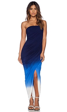 Young, Fabulous & Broke Hamlin Maxi Dress in Navy & Blue Ombre