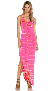 Young, Fabulous & Broke Rubi Maxi Dress in Pink Tiger Wash