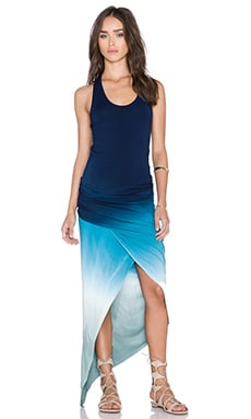 Young, Fabulous & Broke Sassy Maxi Dress in Blue Ombre