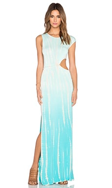 Young, Fabulous & Broke Sia Maxi Dress in Turquoise Rain Ombre