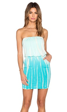 Young, Fabulous & Broke Freya Dress in Turquoise Rain Ombre