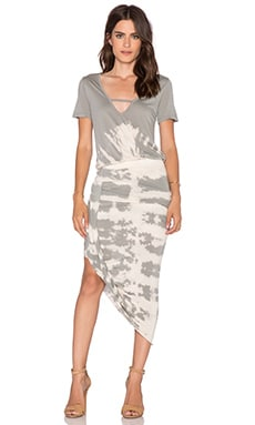 Young, Fabulous & Broke Paolo Dress in Grey Alligator Wash