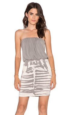 Young, Fabulous & Broke Freya Dress in Grey Alligator Wash