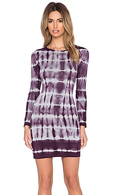 Young, Fabulous & Broke Alyssa Dress in Plum Skinny Stripe Wash