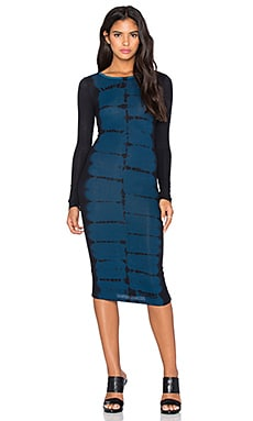 Young, Fabulous & Broke Myra Dress in Navy Tiger Wash