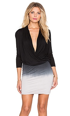 Young, Fabulous & Broke Getty Dress in Black & Grey Ombre