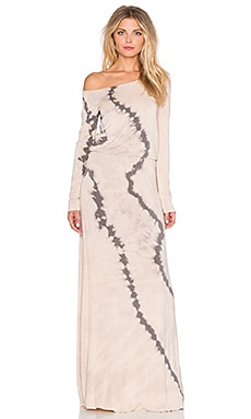 Young, Fabulous & Broke Lucia Maxi Dress in Portabello Wavy Stripe