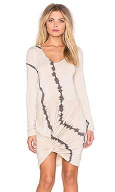 Young, Fabulous & Broke Bobbi Dress in Portabello Wavy Stripe