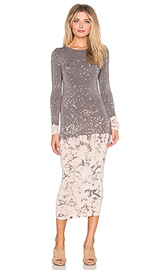 Young, Fabulous & Broke Lulu Dress in Portabello Splatter Wash