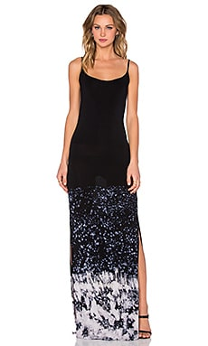 Faron Maxi Dress in Black Splatter Wash