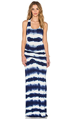 Young, Fabulous & Broke Hamptons Maxi Dress in Navy Shibori Wash