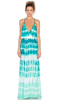 Nala Maxi Dress in Caribe TIde Wash
