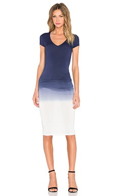 Araya Dress in Navy Ombre