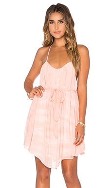 Young, Fabulous & Broke Madrina Dress in Melon Ripple Wash