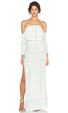 Young, Fabulous & Broke Martha Maxi Dress in Mint Snakeskin Wash