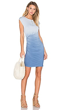 Young, Fabulous & Broke Khloe Mini Dress in Chambray Ombre