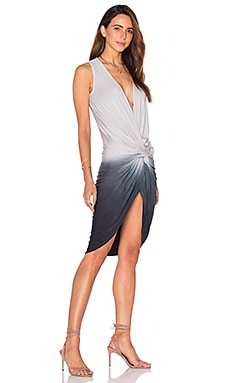 Palomo Dress in Black & Grey Ombre