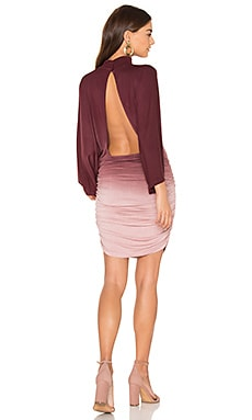 Shiloh Dress en Burgundy Ombre