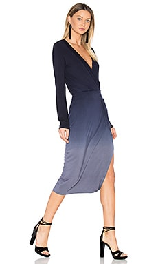 Mariah Dress in Navy Slate Ombre