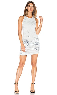 Becky Dress in Ink Marble Wash