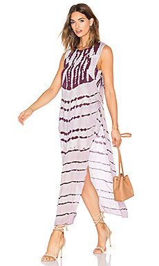 Amara Dress in Pinot Stripe Wash