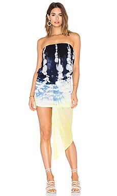 Kauai Dress en Cobalt Earthquake Wash