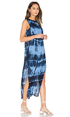 Amara Dress in Indigo White Streak Wash