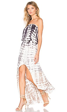 Kylie Dress in White Earthquake Wash