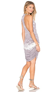 Rocky Dress in Grey Border Wash