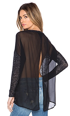 Young, Fabulous & Broke Daria Sweater in Charcoal Ombre