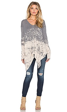 Young, Fabulous & Broke Gabby Sweater in Portabello Splatter Wash