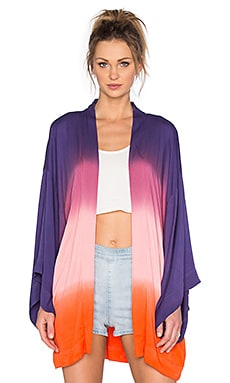 Young, Fabulous & Broke Clark Kimono in Purple Ombre
