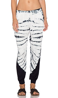 Young, Fabulous & Broke Adrianne Pant in Charcoal Skeleton Wash